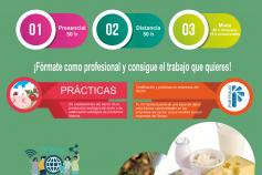 Cartel Curso gratuíto para desempleados Producción y Transformación de Leche Ecológica en Galicia y Asturias