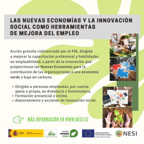 NESI forum. Las Nuevas Economías y la Innovación Social como herramientas de mejora del empleo. Empleaverde. Fundación Biodiversidad