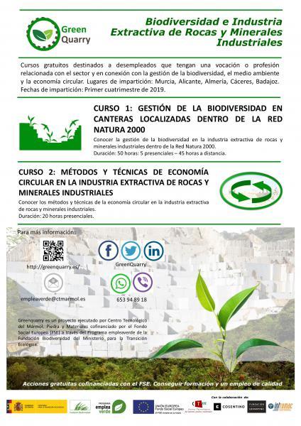 Greenquarry - Biodiversidad e industria extractiva de rocas y minerales industriales.